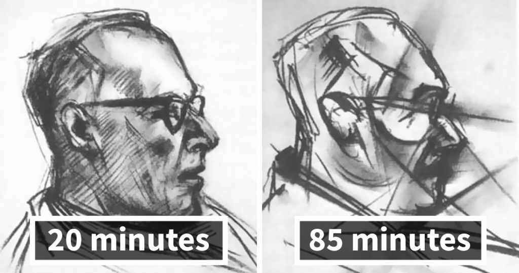 1950s Experiment Asked Artist To Take LSD And Draw The Same Portrait 9 Times, And Each Portrait Got Crazier